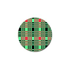 Bright Christmas Abstract Background Christmas Colors Of Red Green And Black Make Up This Abstract Golf Ball Marker (10 Pack) by Simbadda
