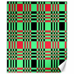 Bright Christmas Abstract Background Christmas Colors Of Red Green And Black Make Up This Abstract Canvas 8  X 10