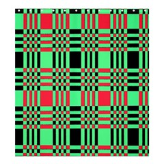 Bright Christmas Abstract Background Christmas Colors Of Red Green And Black Make Up This Abstract Shower Curtain 66  X 72  (large)
