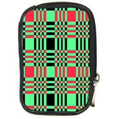 Bright Christmas Abstract Background Christmas Colors Of Red Green And Black Make Up This Abstract Compact Camera Cases by Simbadda