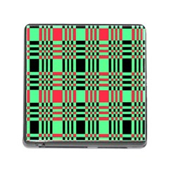 Bright Christmas Abstract Background Christmas Colors Of Red Green And Black Make Up This Abstract Memory Card Reader (square)