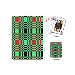 Bright Christmas Abstract Background Christmas Colors Of Red Green And Black Make Up This Abstract Playing Cards (mini)