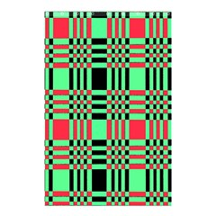Bright Christmas Abstract Background Christmas Colors Of Red Green And Black Make Up This Abstract Shower Curtain 48  X 72  (small)