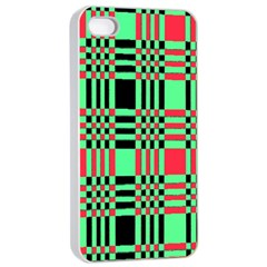 Bright Christmas Abstract Background Christmas Colors Of Red Green And Black Make Up This Abstract Apple Iphone 4/4s Seamless Case (white)