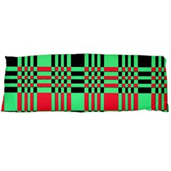 Bright Christmas Abstract Background Christmas Colors Of Red Green And Black Make Up This Abstract Body Pillow Case Dakimakura (two Sides)