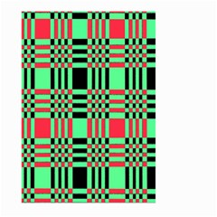 Bright Christmas Abstract Background Christmas Colors Of Red Green And Black Make Up This Abstract Large Garden Flag (two Sides)