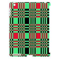 Bright Christmas Abstract Background Christmas Colors Of Red Green And Black Make Up This Abstract Apple Ipad 3/4 Hardshell Case (compatible With Smart Cover) by Simbadda
