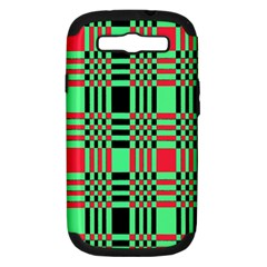 Bright Christmas Abstract Background Christmas Colors Of Red Green And Black Make Up This Abstract Samsung Galaxy S Iii Hardshell Case (pc+silicone)