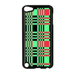 Bright Christmas Abstract Background Christmas Colors Of Red Green And Black Make Up This Abstract Apple Ipod Touch 5 Case (black) by Simbadda