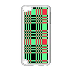 Bright Christmas Abstract Background Christmas Colors Of Red Green And Black Make Up This Abstract Apple Ipod Touch 5 Case (white)