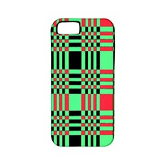 Bright Christmas Abstract Background Christmas Colors Of Red Green And Black Make Up This Abstract Apple Iphone 5 Classic Hardshell Case (pc+silicone) by Simbadda