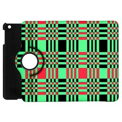 Bright Christmas Abstract Background Christmas Colors Of Red Green And Black Make Up This Abstract Apple Ipad Mini Flip 360 Case by Simbadda
