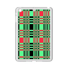 Bright Christmas Abstract Background Christmas Colors Of Red Green And Black Make Up This Abstract Ipad Mini 2 Enamel Coated Cases by Simbadda