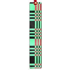Bright Christmas Abstract Background Christmas Colors Of Red Green And Black Make Up This Abstract Large Book Marks by Simbadda