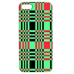 Bright Christmas Abstract Background Christmas Colors Of Red Green And Black Make Up This Abstract Apple Iphone 5 Hardshell Case With Stand by Simbadda
