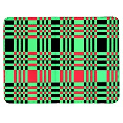 Bright Christmas Abstract Background Christmas Colors Of Red Green And Black Make Up This Abstract Samsung Galaxy Tab 7  P1000 Flip Case