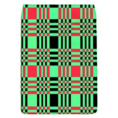 Bright Christmas Abstract Background Christmas Colors Of Red Green And Black Make Up This Abstract Flap Covers (l)  by Simbadda