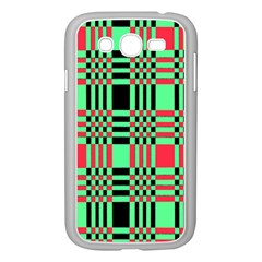 Bright Christmas Abstract Background Christmas Colors Of Red Green And Black Make Up This Abstract Samsung Galaxy Grand Duos I9082 Case (white)