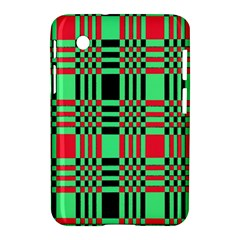 Bright Christmas Abstract Background Christmas Colors Of Red Green And Black Make Up This Abstract Samsung Galaxy Tab 2 (7 ) P3100 Hardshell Case  by Simbadda