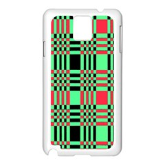 Bright Christmas Abstract Background Christmas Colors Of Red Green And Black Make Up This Abstract Samsung Galaxy Note 3 N9005 Case (white)
