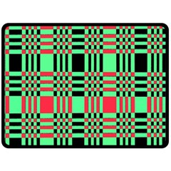Bright Christmas Abstract Background Christmas Colors Of Red Green And Black Make Up This Abstract Double Sided Fleece Blanket (large)  by Simbadda