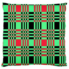 Bright Christmas Abstract Background Christmas Colors Of Red Green And Black Make Up This Abstract Standard Flano Cushion Case (two Sides)