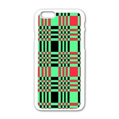 Bright Christmas Abstract Background Christmas Colors Of Red Green And Black Make Up This Abstract Apple Iphone 6/6s White Enamel Case