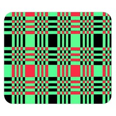 Bright Christmas Abstract Background Christmas Colors Of Red Green And Black Make Up This Abstract Double Sided Flano Blanket (small)  by Simbadda