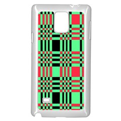 Bright Christmas Abstract Background Christmas Colors Of Red Green And Black Make Up This Abstract Samsung Galaxy Note 4 Case (white)