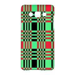 Bright Christmas Abstract Background Christmas Colors Of Red Green And Black Make Up This Abstract Samsung Galaxy A5 Hardshell Case  by Simbadda