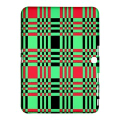 Bright Christmas Abstract Background Christmas Colors Of Red Green And Black Make Up This Abstract Samsung Galaxy Tab 4 (10 1 ) Hardshell Case