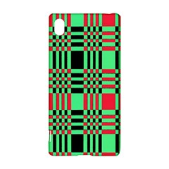 Bright Christmas Abstract Background Christmas Colors Of Red Green And Black Make Up This Abstract Sony Xperia Z3+ by Simbadda