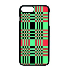 Bright Christmas Abstract Background Christmas Colors Of Red Green And Black Make Up This Abstract Apple Iphone 7 Plus Seamless Case (black)