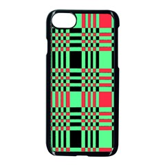 Bright Christmas Abstract Background Christmas Colors Of Red Green And Black Make Up This Abstract Apple Iphone 7 Seamless Case (black)