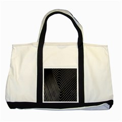 Chrome Abstract Pile Of Chrome Chairs Detail Two Tone Tote Bag by Simbadda