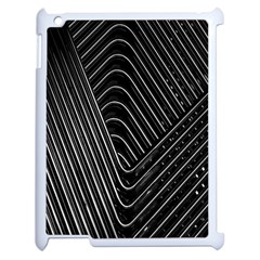Chrome Abstract Pile Of Chrome Chairs Detail Apple Ipad 2 Case (white) by Simbadda
