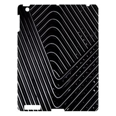Chrome Abstract Pile Of Chrome Chairs Detail Apple Ipad 3/4 Hardshell Case by Simbadda