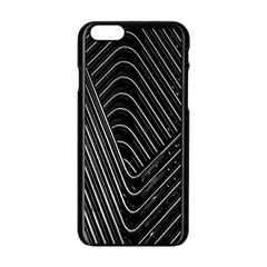 Chrome Abstract Pile Of Chrome Chairs Detail Apple Iphone 6/6s Black Enamel Case by Simbadda