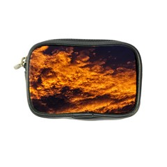 Abstract Orange Black Sunset Clouds Coin Purse by Simbadda