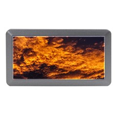 Abstract Orange Black Sunset Clouds Memory Card Reader (mini)