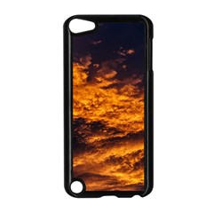 Abstract Orange Black Sunset Clouds Apple Ipod Touch 5 Case (black) by Simbadda