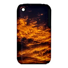Abstract Orange Black Sunset Clouds Iphone 3s/3gs by Simbadda