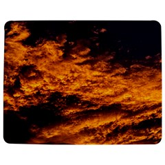 Abstract Orange Black Sunset Clouds Jigsaw Puzzle Photo Stand (rectangular) by Simbadda