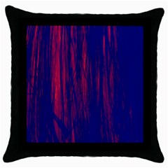 Abstract Color Red Blue Throw Pillow Case (black) by Simbadda