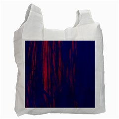 Abstract Color Red Blue Recycle Bag (two Side)  by Simbadda
