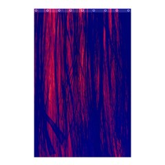Abstract Color Red Blue Shower Curtain 48  X 72  (small)  by Simbadda