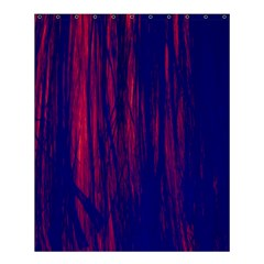 Abstract Color Red Blue Shower Curtain 60  X 72  (medium)