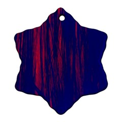 Abstract Color Red Blue Ornament (snowflake)