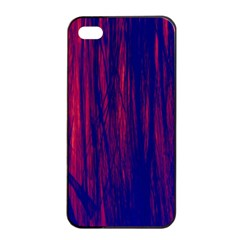 Abstract Color Red Blue Apple Iphone 4/4s Seamless Case (black) by Simbadda