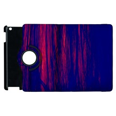 Abstract Color Red Blue Apple Ipad 2 Flip 360 Case